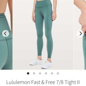 Green smoke fast and free size 8 lululemon